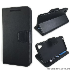 HTC Desire 820 Stand Wallet Case Cover - Black