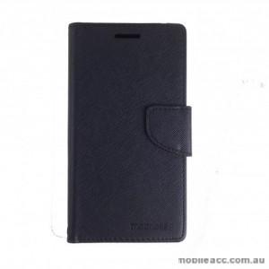 Mooncase Stand Wallet Case For HTC Desire 825 - Black