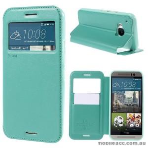 Korean Roar Wallet Case Cover for HTC One M9 - Aqua