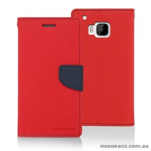 Korean Mercury Fancy Dairy Wallet Case for HTC E9 Plus Red