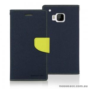Korean Mercury Fancy Dairy Wallet Case for HTC E9 Plus Navy