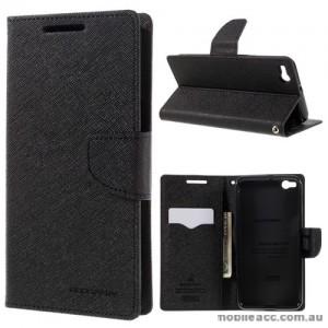 Mercury Fancy Diary Wallet Case for HTC One X9 Black