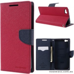 Mercury Fancy Diary Wallet Case for HTC One X9 Hot Pink