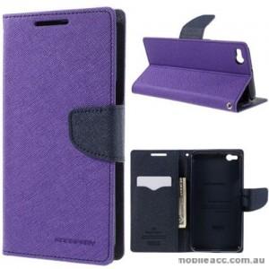 Mercury Fancy Diary Wallet Case for HTC One X9 Purple