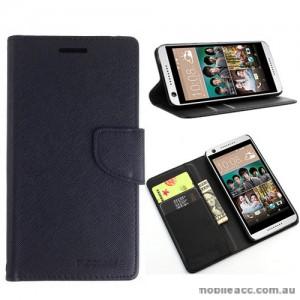 Mooncase Stand Wallet Case For HTC Desire 650 - Black