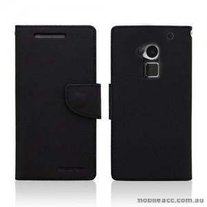 Korean Mercury Wallet Case for HTC One Max - Black