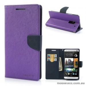 Korean Mercury Wallet Case for HTC One Max - Purple