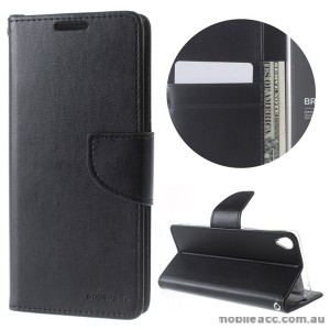 Mercury Goospery Bravo Diary Wallet Case For Oppo R9 Plus - Black