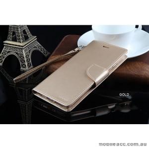 Mercury Goospery Bravo Diary Wallet Case For Oppo R9 Plus - Gold