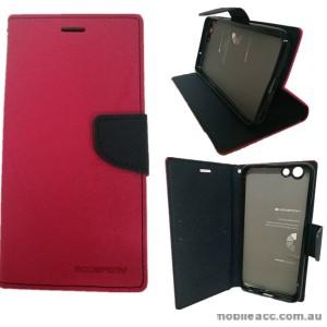 Korean Mercury Fancy Dairy Wallet Case For Oppo F1S - Hot Pink
