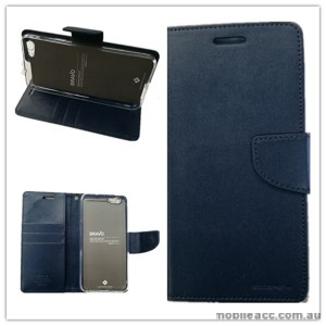 Mercury Goospery Bravo Diary Wallet Case For Oppo F1s - Navy