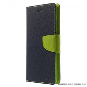 Korean Mercury Fancy Diary Wallet Case For Oppo R11 - Navy