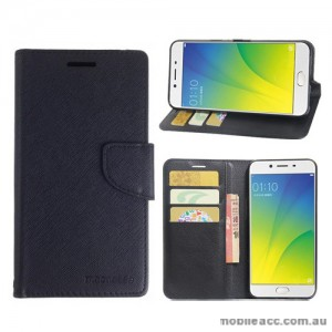 Mooncase Stand Wallet Case for Oppo A77 - Black