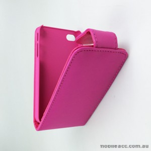 Synthetic Leather Flip Case with Card Holders for iPhone 4S / 4 - Pink