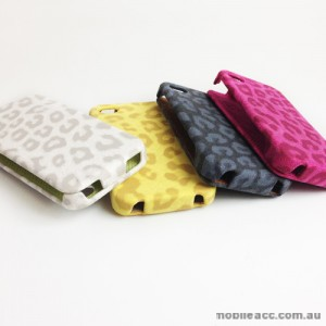 Quality Leopard Flip Pouch Case for Apple iPhone 4S / 4