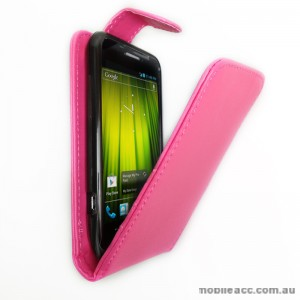 Synthetic Leather Flip Case for Telstra Frontier 4G - Hot Pink