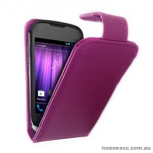 Synthetic Leather Flip Case for Telstra Pulse ZTE T790 - Purple
