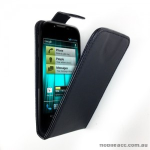 Synthetic Leather Flip Case with Wallet Card Holders for Telstra Easy Touch 4G T82 - Black