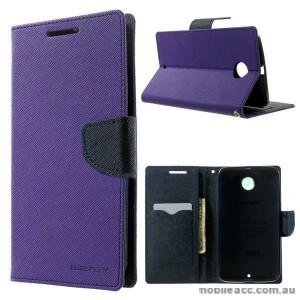 Korean Mercury Fancy Diary Wallet Case for Google Nexus 6 - Purple