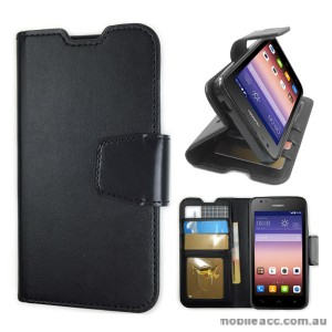 Synthetic Leather Wallet Case for Huawei Y550