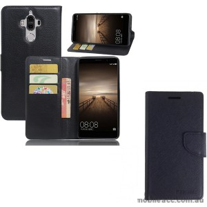 Mooncase Stand Wallet Case For Huawei Mate 9 - Black