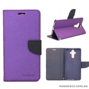 Mooncase Stand Wallet Case For Huawei Mate 9 Purple
