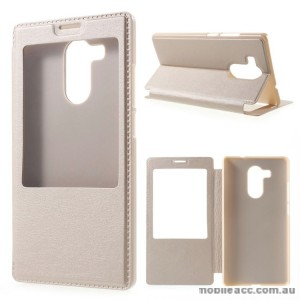 Flip Cover Case for Huawei Mate 8 Gold
