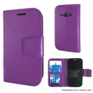 Telstra Evolution T80 Stand TPU In Wallet Case - Purple