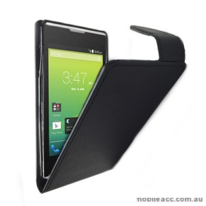 Telstra Tempo T815 Synthetic Leather Flip Case - Black