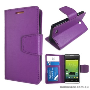 Telstra Tempo T815 Stand TPU In Wallet Case - Purple