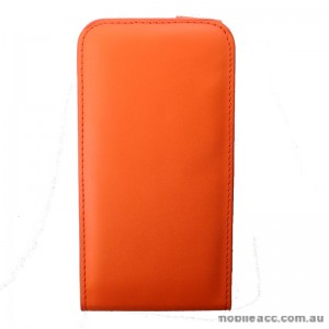 Synthetic Leather Flip Case for Telstra Tough Max Orange