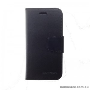Synthetic Leather Wallet Case for Telstra Tough Max T84  Black