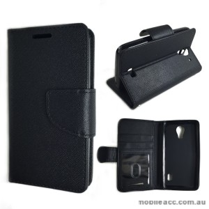 Moon Wallet Case for Huawei Ascend Y360 - Black