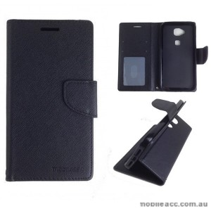 Mooncase Stand Wallet Case for Huawei G8 Black