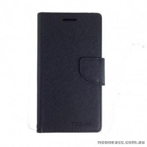 Mooncase Stand Wallet Case For Telstra Huawei P8 Lite - Black