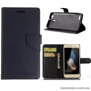 Mooncase Stand Wallet Case For Huawei GR3 Black