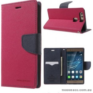 Mercury Goospery Fancy Diary Wallet Case Cover For Huawei P9 - Hot Pink