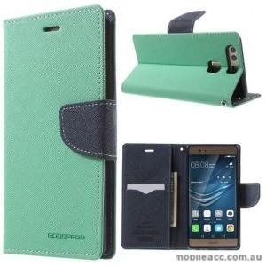 Mercury Goospery Fancy Diary Wallet Case Cover For Huawei P9 - Mint Green