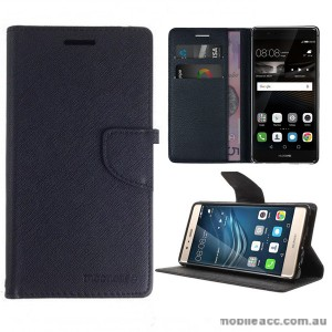 Mooncase Stand Wallet Case For Huawei P9 Black
