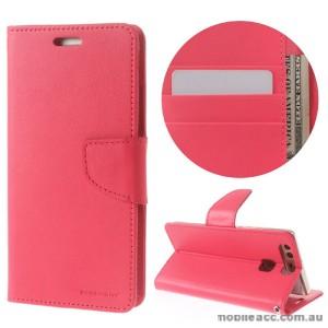 Mercury Goospery Bravo Diary Wallet Case For Huawei P9 Plus - Hot Pink