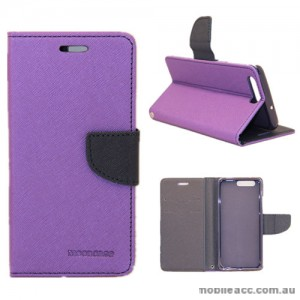 Mooncase Stand Wallet Case For Huawei P10 Plus Purple