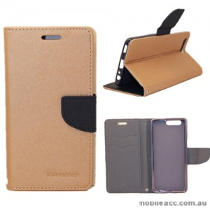 Mooncase Stand Wallet Case For Huawei P10 Plus Gold