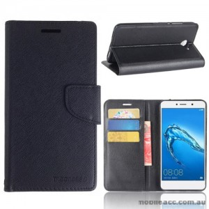Mooncase Stand Wallet Case For Huawei Y7 - Black
