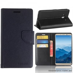 Mooncase Stand Wallet Case For Huawei Mate 10 - Black