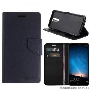 Mooncase Stand Wallet Case For Huawei Nova 2i - Black