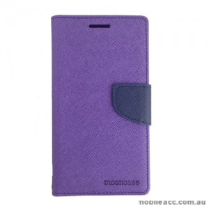 Universal Fancy Diary Stand Wallet Case Size 5 - Purple