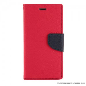 Universal Fancy Diary Stand Wallet Case Size 5 - Red