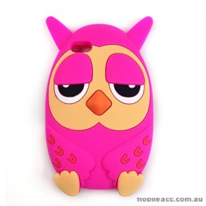 Owl 3D Silicone Case Cover for iPhone 5/5S/SE - Hot Pink