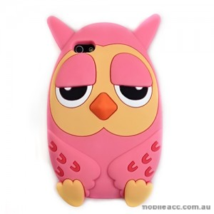 Owl 3D Silicone Case Cover for iPhone 5/5S/SE - Light Pink