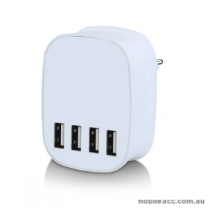 22.5W 5V 4.5A 4 USB Port Smart Charger - White